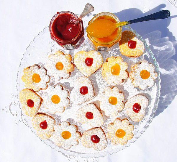 Biscottini con Tuttafrutta di Mirtilli Rossi e Pesca